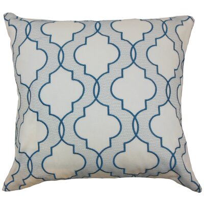 Apolinne Geometric Throw Pillow Color: Teal, Size: 18 x 18