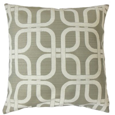 Bertille Geometric Throw Pillow Color: Greystone, Size: 18 x 18