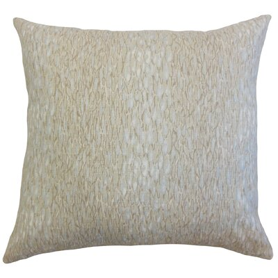 Galen Linen Throw Pillow Color: Pumice, Size: 18 x 18