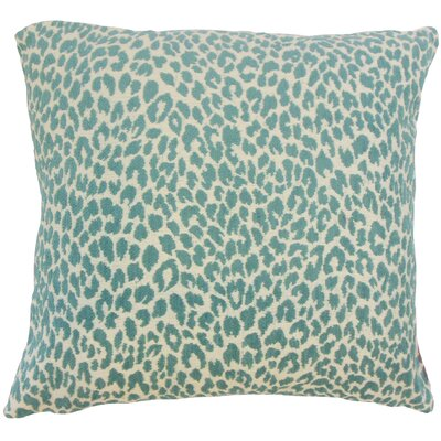 Pesach Animal Print Throw Pillow Color: Teal, Size: 18 x 18