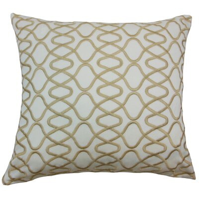 Briar Acetate Throw Pillow Color: Natural, Size: 18 x 18