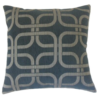 Bertille Geometric Throw Pillow Color: Nightsky, Size: 18 x 18