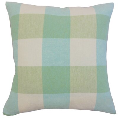 Amory Plaid Throw Pillow Color: Spring, Size: 22 x 22