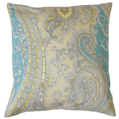 Efharis Cotton Throw Pillow Color: Sunray, Size: 18 x 18