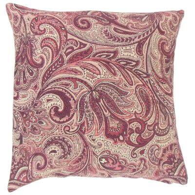 Vilette Paisley Throw Pillow Color: Bittersweet, Size: 22 x 22