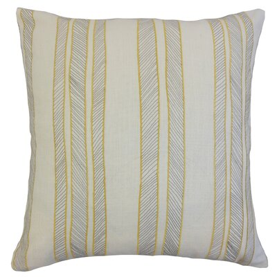 Drum Stripes Throw Pillow Color: Sunny, Size: 24 x 24