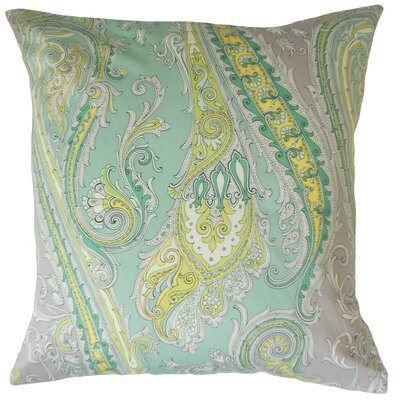 Efharis Cotton Throw Pillow Color: Zinc, Size: 24 x 24