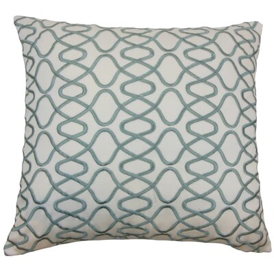 Briar Acetate Throw Pillow Color: Spa, Size: 20 x 20