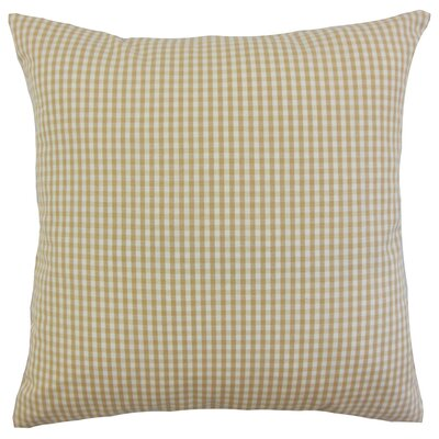 Keats Plaid Throw Pillow Cover Color: Honey