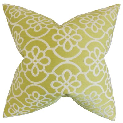 Indre Geometric Throw Pillow Color: Honeydew, Size: 24 x 24