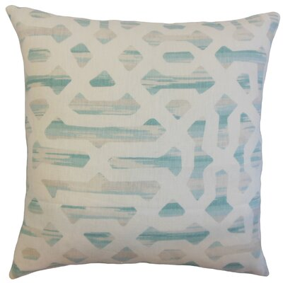 Farok Geometric Cotton Throw Pillow Color: Beach, Size: 18 x 18