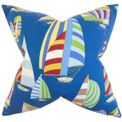 Maraca Acetate Throw Pillow Color: Blue, Size: 18 x 18