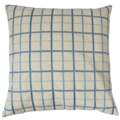 Ismene Plaid Cotton Throw Pillow Size: 18 x 18
