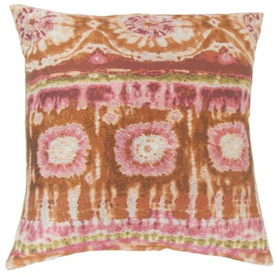 Xantara Ikat Throw Pillow Color: Guava, Size: 18 x 18