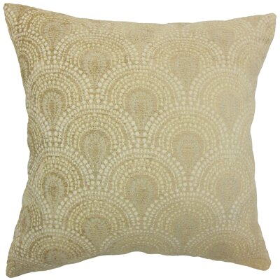 Yaru Geometric Bedding Sham Size: Euro, Color: Natural