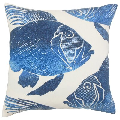 Lael Outdoor Throw Pillow Color: Cobalt, Size: 18 x 18