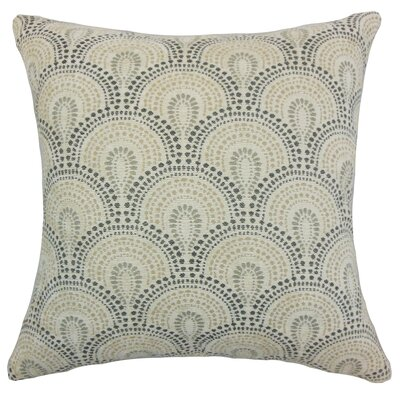 Yaru Throw Pillow Color: Stone, Size: 18 x 18