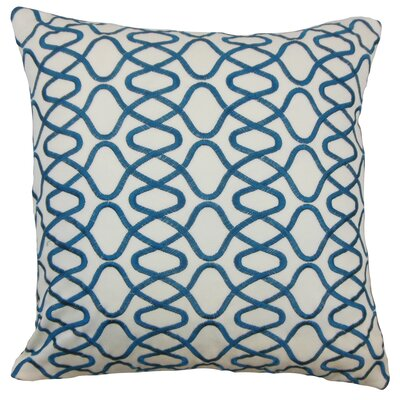 Briar Acetate Throw Pillow Color: Teal, Size: 18 x 18