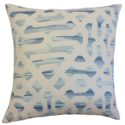 Farok Geometric Cotton Throw Pillow Color: River, Size: 22