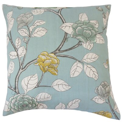 Pallavi Floral Bedding Sham Size: Queen, Color: Aqua