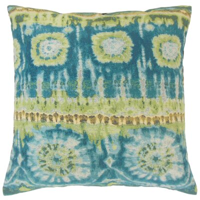 Xantara Ikat Throw Pillow Color: Lagoon, Size: 22 x 22