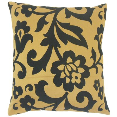 Fisseha Floral Bedding Sham Size: Euro, Color: Tigers Eye