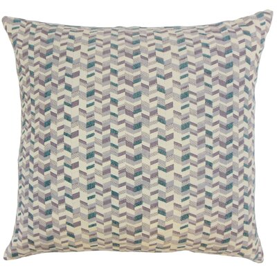 Bloem Chevron Throw Pillow Cover Size: 18 x 18, Color: Wisteria