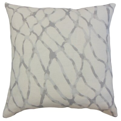 Ennise Graphic Linen Throw Pillow Color: Stone, Size: 18 x 18