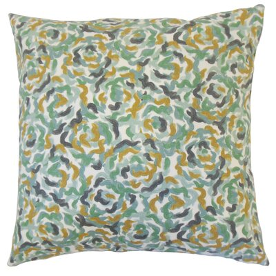 Junayd Graphic Cotton Throw Pillow Color: Dew, Size: 18 x 18