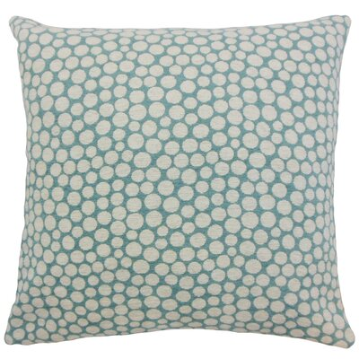 Elif Polka Dot Throw Pillow Color: Cyan, Size: 24 x 24