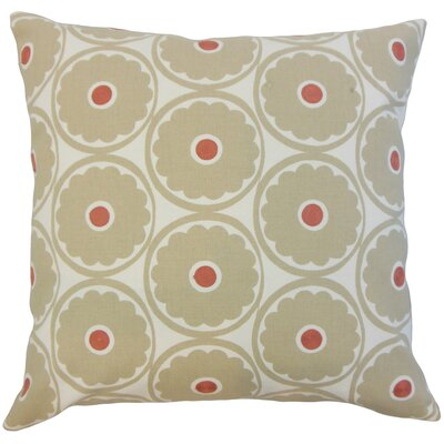 Day Floral Cotton Throw Pillow Color: Driftwood, Size: 22