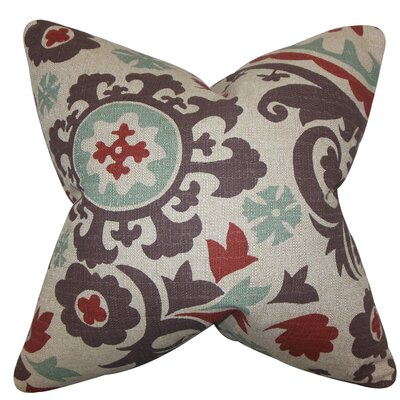 Wella Cotton Throw Pillow Color: Gray, Size: 18 x 18