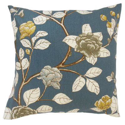 Pallavi Throw Pillow Color: Midnight, Size: 18 x 18