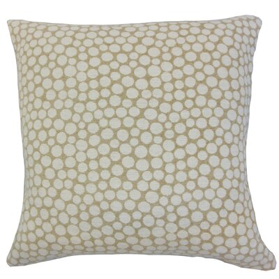 Elif Polka Dot Throw Pillow Color: Sand, Size: 18 x 18