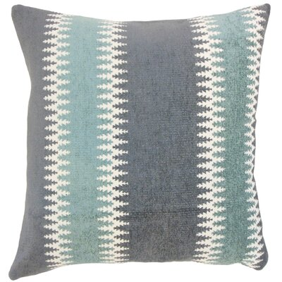 Yamilet Stripe Throw Pillow Cover Size: 18 x 18, Color: Glacier