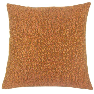 Grisel Woven Throw Pillow Color: Tamale, Size: 18 x 18