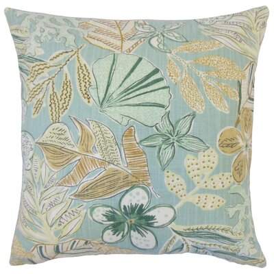 Felice Cotton Throw Pillow Color: Dew, Size: 22 x 22