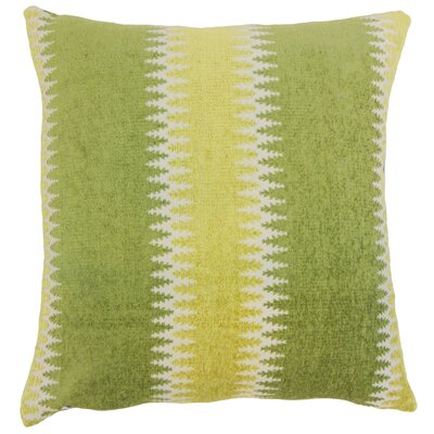 Yamilet Stripe Throw Pillow Cover Size: 18 x 18, Color: Tundra