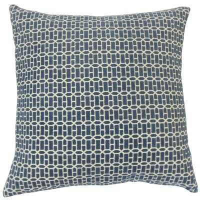 Yancy Throw Pillow Color: Lapis, Size: 18 x 18