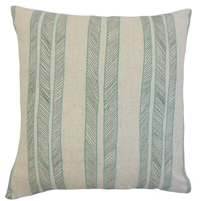 Drum Stripes Throw Pillow Color: Aqua, Size: 18 x 18