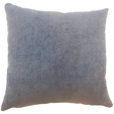 Xyla Solid Throw Pillow Cover Size: 20 x 20, Color: Carbon