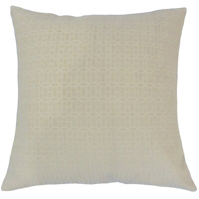 Yancy Throw Pillow Color: Natural, Size: 18 x 18