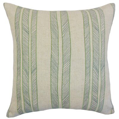 Drum Stripes Throw Pillow Color: Grass, Size: 18 x 18