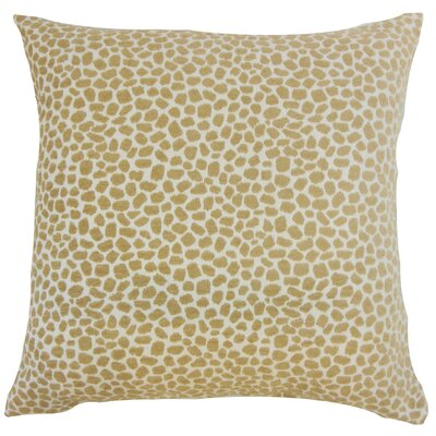 Badr Geometric Throw Pillow Color: Sand, Size: 22 x 22