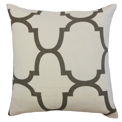Cascade Linen Throw Pillow Color: Ivory, Size: 24 x 24