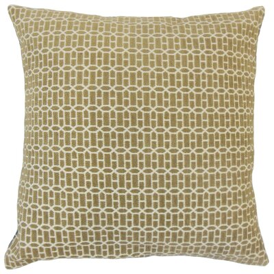 Yancy Throw Pillow Color: Raffia, Size: 18 x 18