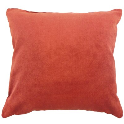 Xyla Solid Throw Pillow Cover Size: 18 x 18, Color: Fire
