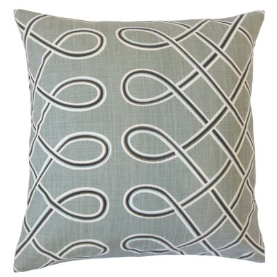 Deance Geometric Cotton Throw Pillow Color: Storm, Size: 22