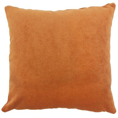 Xyla Solid Throw Pillow Cover Size: 18 x 18, Color: Ginger