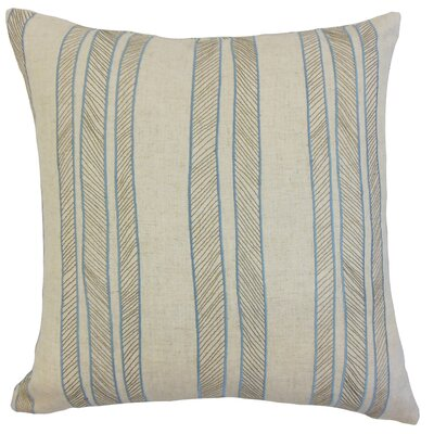 Drum Stripes Throw Pillow Color: Indigo, Size: 18 x 18